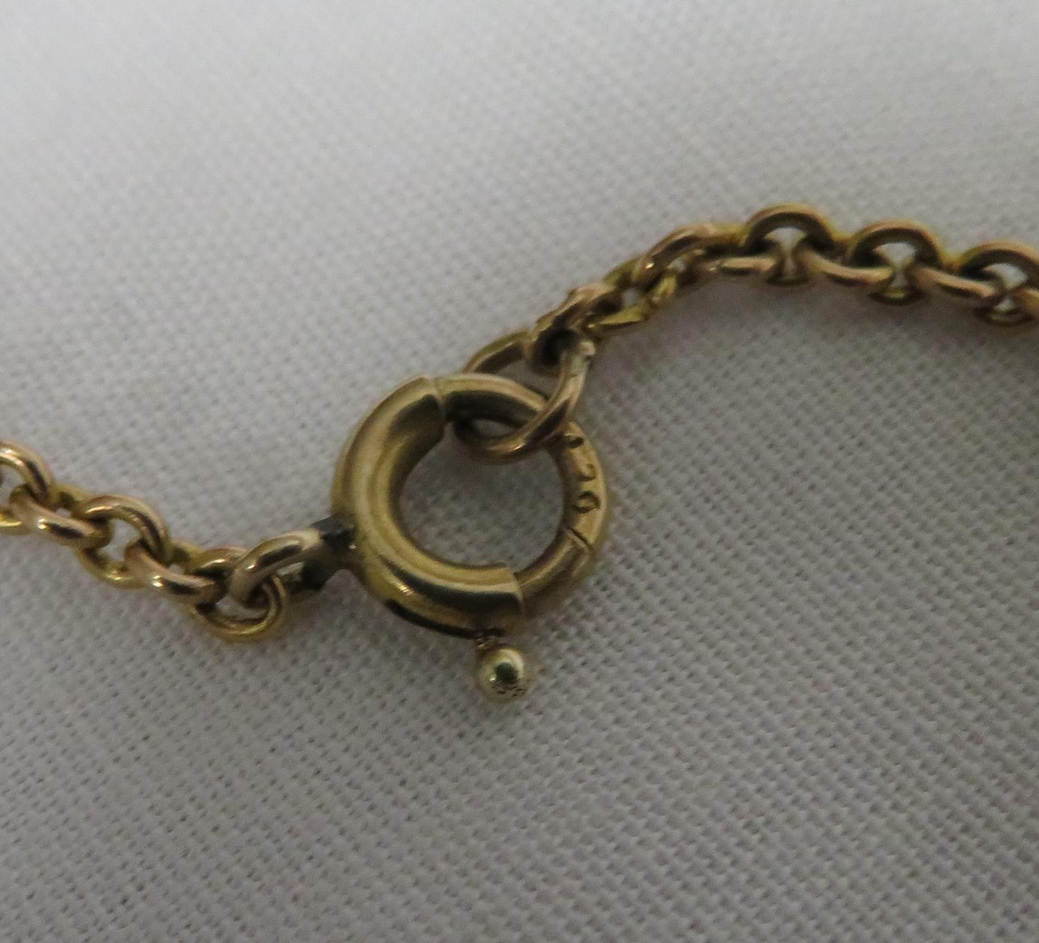 Lot 26 - 1887 half sovereign on chain - total weight 8.2 grams