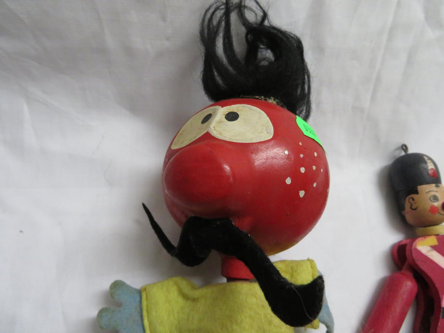 Lot 41 - Original Zebedee stick puppet with three other toys