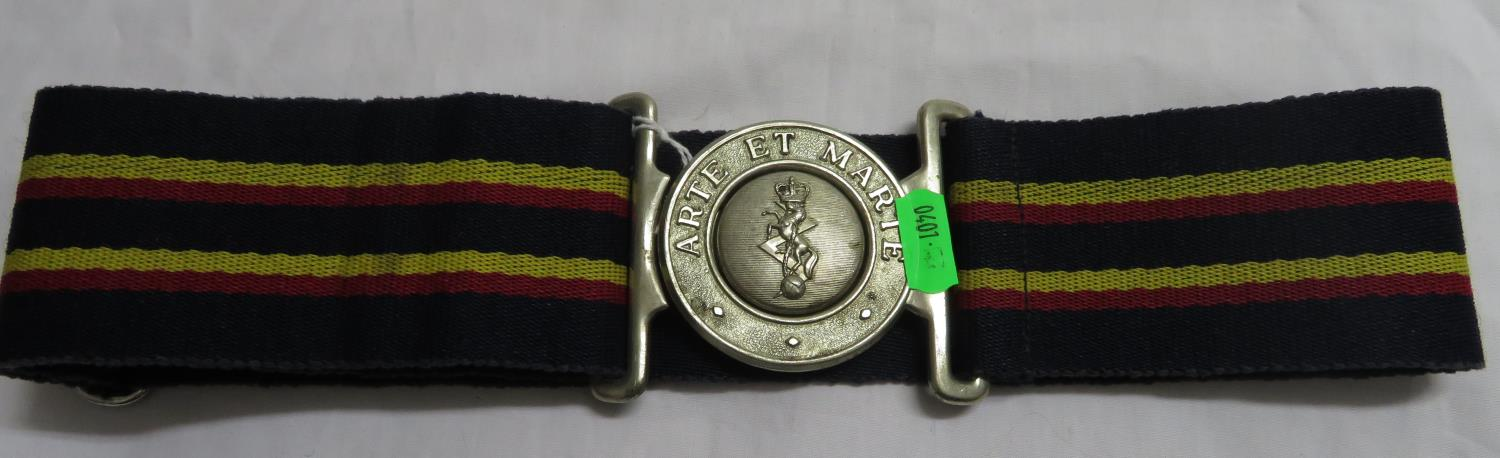 Lot 29 - Commando 50th anniversary medal and military belt