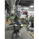 """Bridgeport Vertical Miller s/n BR30100, J Head, 32"""" Table, DRO"""