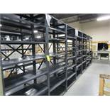 Lot (22) Sections Grey Steel Shelving