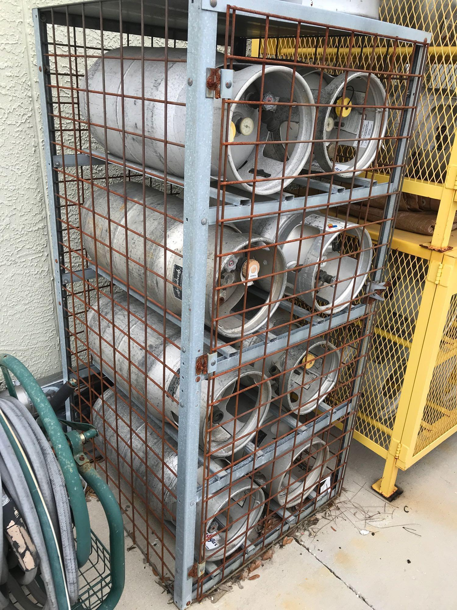 Lot 13 - ALUMINUM & STEEL LP GAS TANKS WITH CAGE