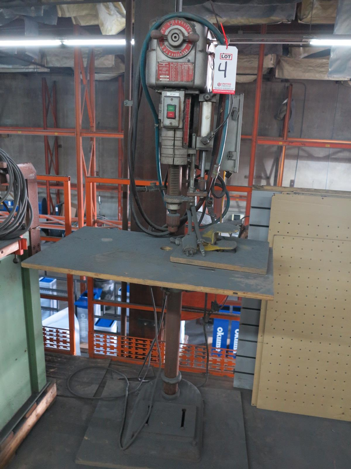 """POWERMATIC MODEL 1150 15"""" DRILL PRESS, VARIABLE SPEED, S/N 4-4359-1, OUT OF SERVICE - Image 2 of 2"""