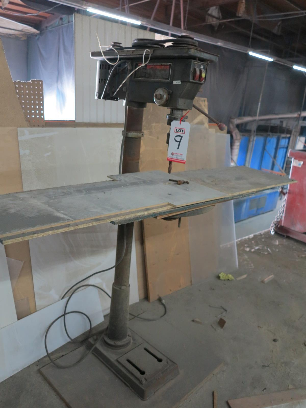 """17"""" VARIABLE SPEED DRILL PRESS, OUT OF SERVICE"""