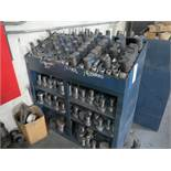 LOT - PUNCH PRESS TOOLING ARRANGED ON STEEL SHELF