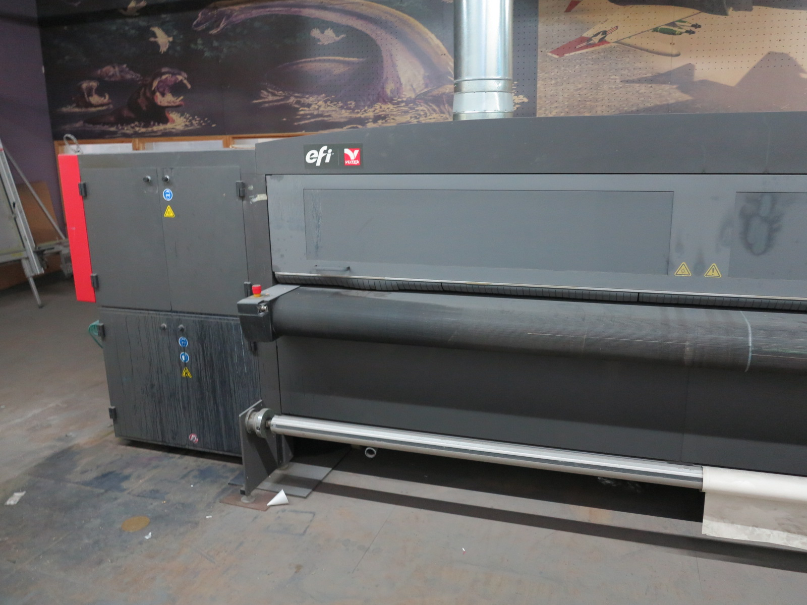 2012 EFI VUTEK QS3220 SUPER LARGE FORMAT PRINTER, FOR RIDGID AND ROLL-TO-ROLL PRINTING, S/N 630312 - Image 3 of 5