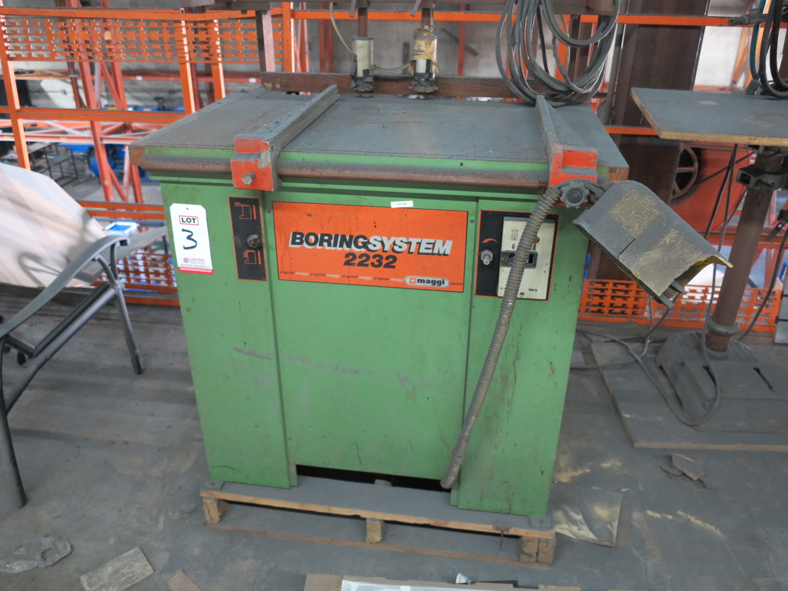 MAGGI BORING SYSTEM 2232, DOWEL DRILLING MACHINE, OUT OF SERVICE