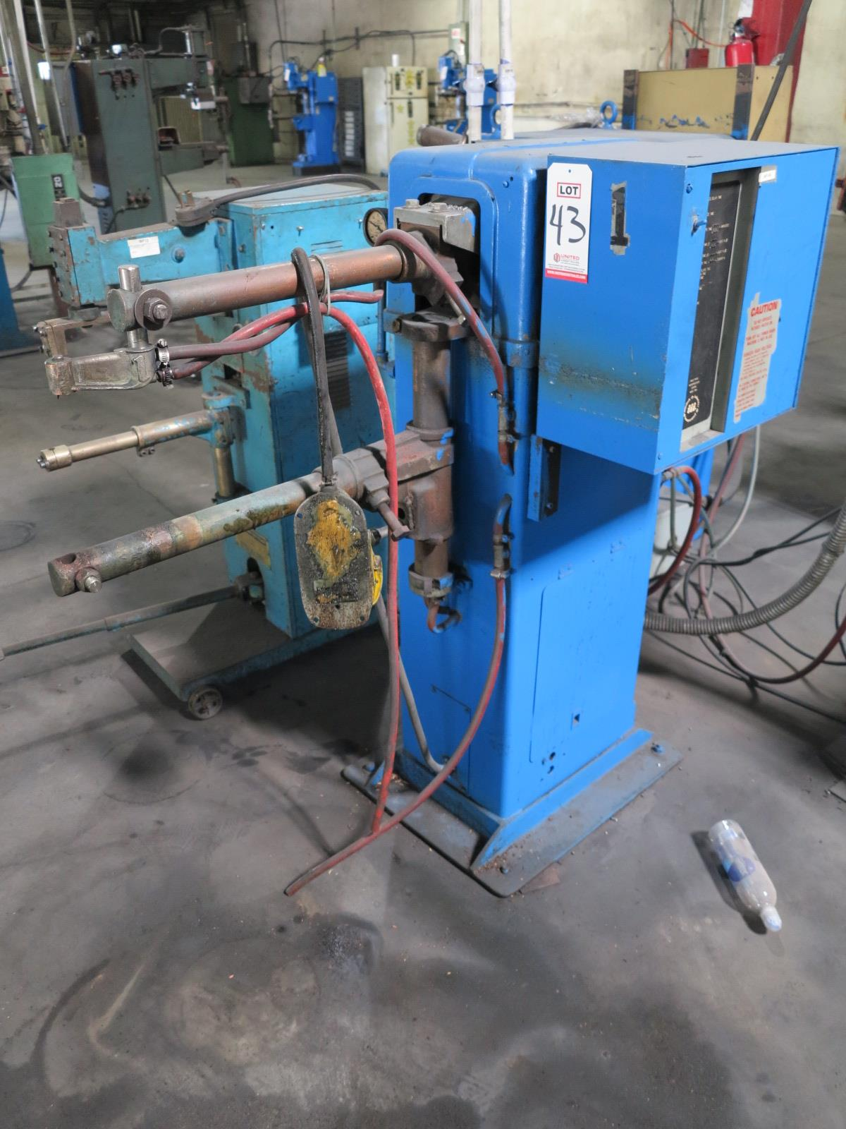"ACME SPOT WELDER, MODEL 2-18-30, 30 KVA, INTELOCK CONTROL, 24"" ARMS, S/N 12613, FOOT PEDAL - Image 2 of 2"