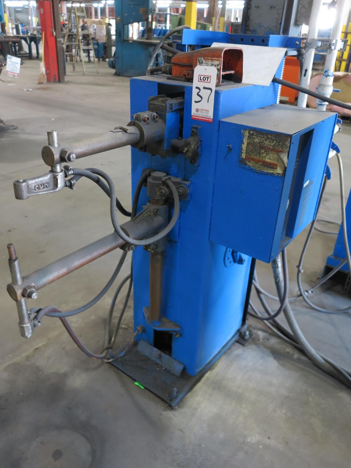 ACME SPOT WELDER, 30 KVA, DATA PLATE MISSING, FOOT PEDAL - Image 2 of 2