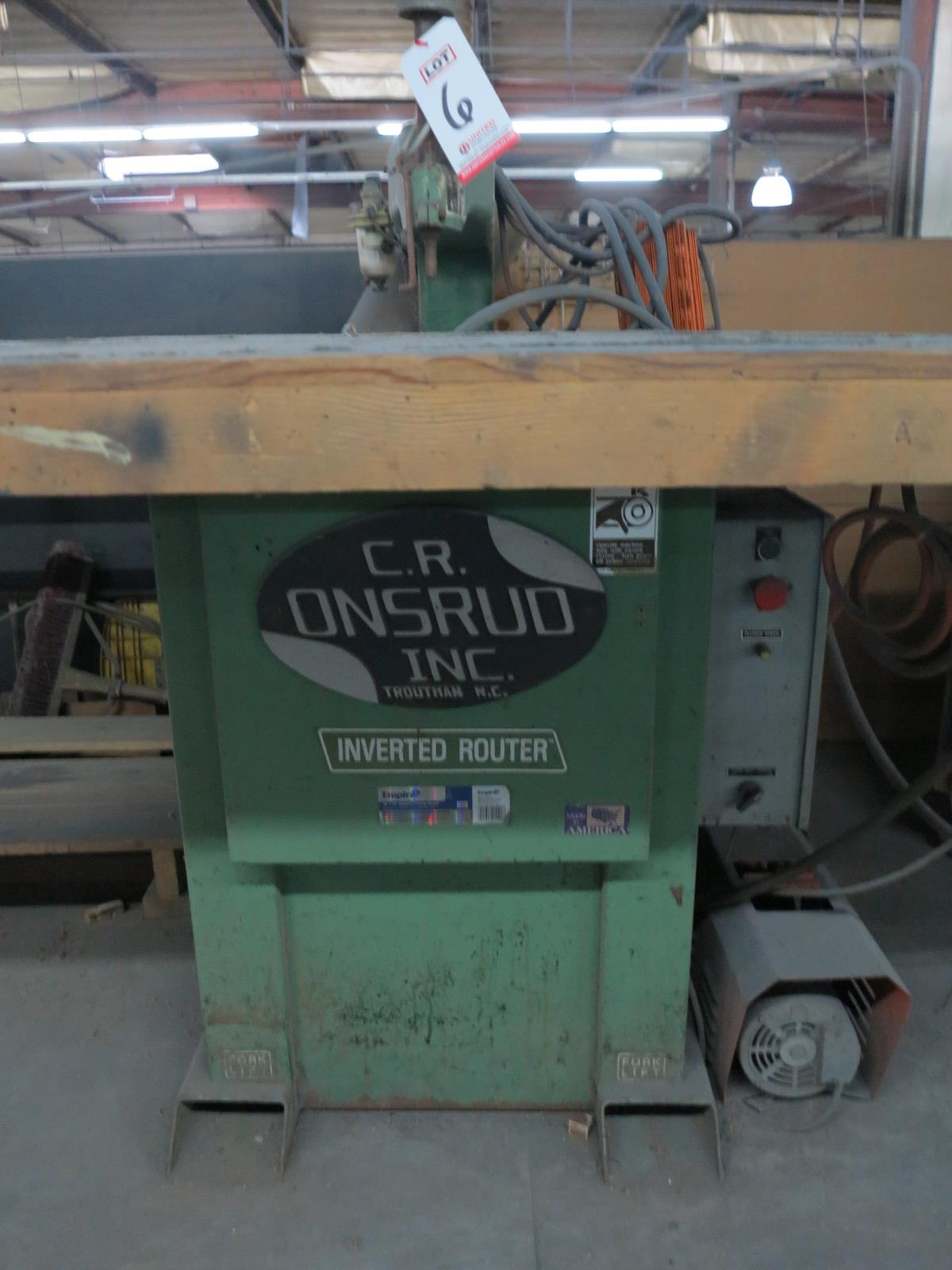 1993 ONSRUD INVERTED ROUTER, MODEL 3025, S/N 9330907, OUT OF SERVICE - Image 2 of 3