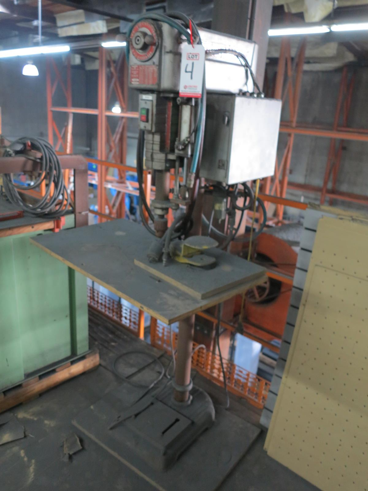 """POWERMATIC MODEL 1150 15"""" DRILL PRESS, VARIABLE SPEED, S/N 4-4359-1, OUT OF SERVICE"""