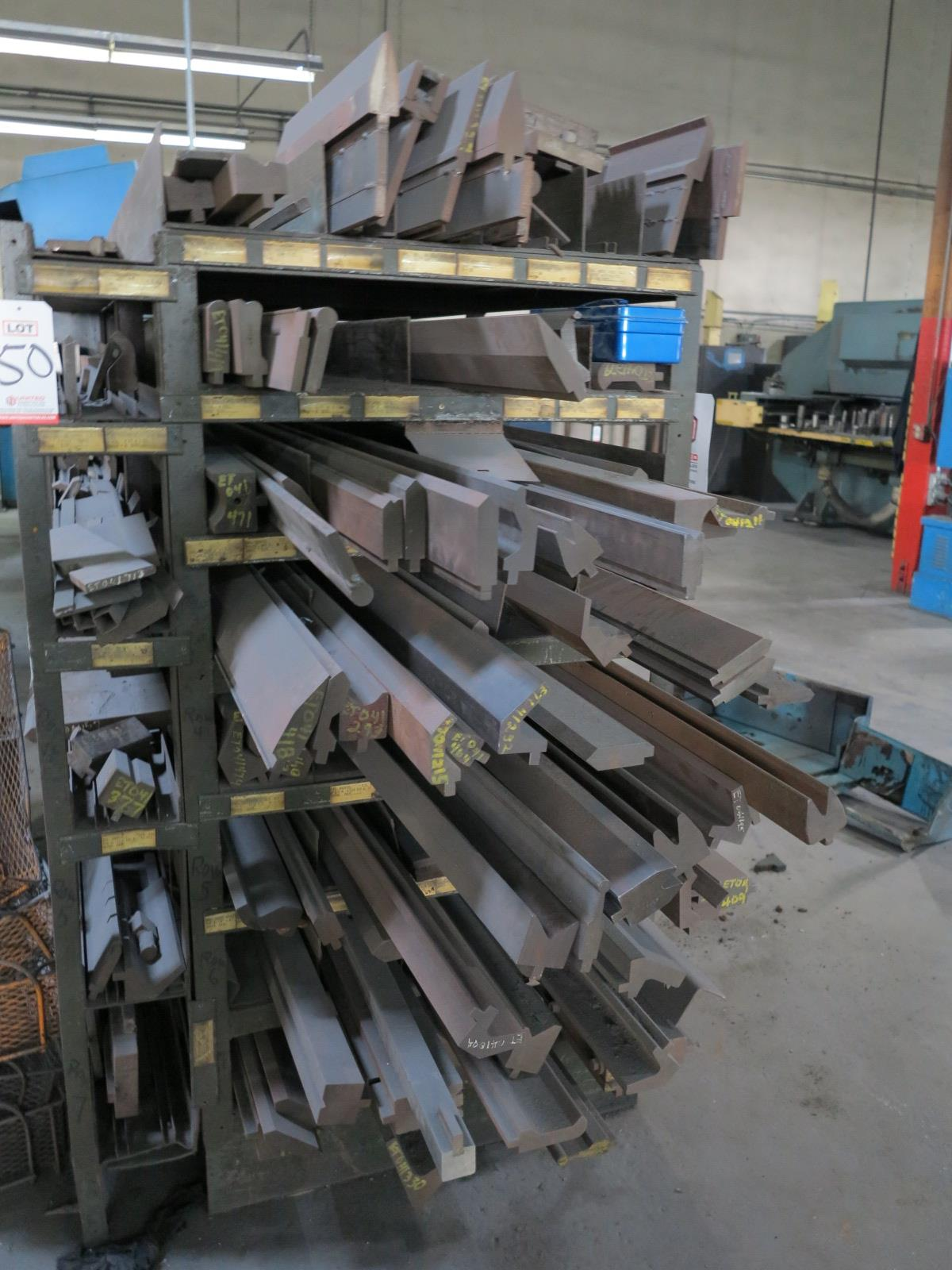 LOT - LARGE QUANTITY OF BRAKE DIES, RACK INCLUDED - Image 2 of 4