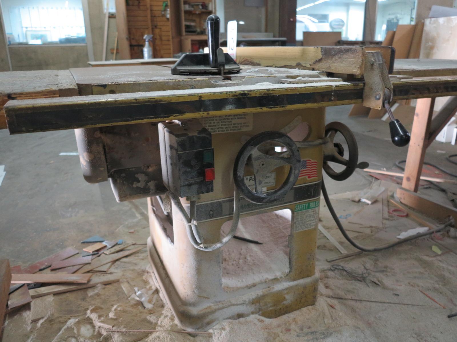 """POWERMATIC 10"""" TABLE SAW, MODEL 66, S/N 97662265, GOOD WORKING ORDER - Image 2 of 2"""