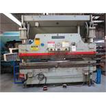"CINCINNATI PRESS BRAKE, 90-TON X 10', MODEL 90CBX8, 8"" STROKE, AUTOBEND IV CNC CONTROL, FOOT"