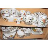 "A quantity of Royal Worcester, ""Evesham"" pattern tableware, including a casserole pot with cover,"