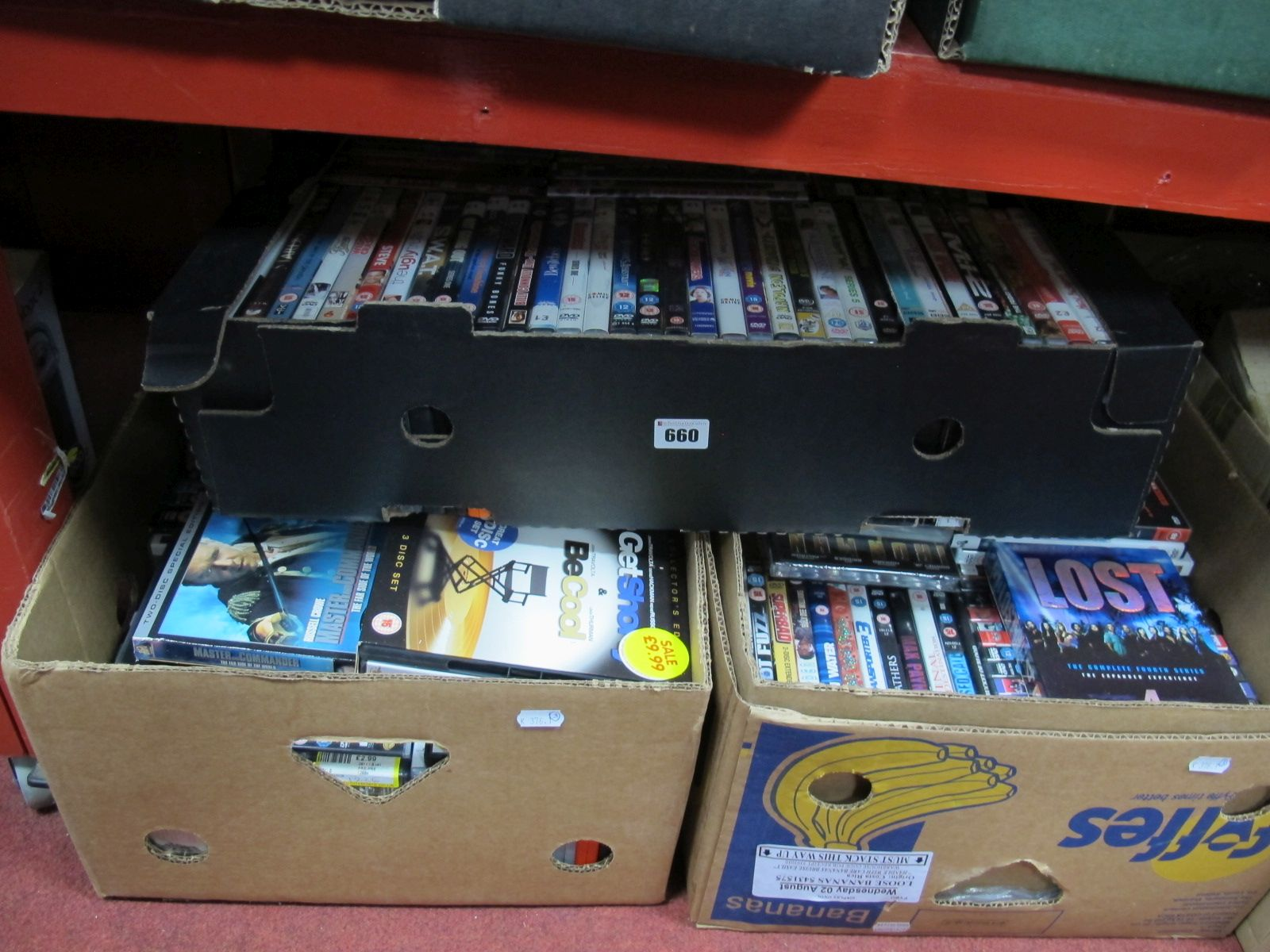 Lot 660 - A Collection of Over 150 DVD's, many modern titles noted:- Three Boxes