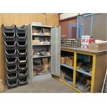 Contents of room Hardware. Cabinets, Shelves, Desk