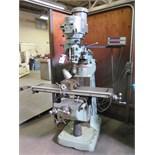 Bridgeport Series 1 – 2Hp Vertical Mill s/n 239879 w/ Sony DRO, 60-4200 Dial RPM, Chrome Ways,