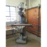 "Bridgeport Vertical Mill s/n 121531 w/ 1.5Hp Motor, 60-4200 Dial RPM, 7"" Riser, 9"" x 42"""