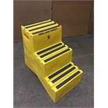 PORTABLE STEPS - 500lbs. Cap - 3 STEP (BIDDING IS PER CHAIR MULTIPLIED BY 5)