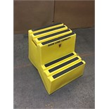 PORTABLE STEPS - 500lbs. Cap - 2 STEP (BIDDING IS PER UNIT MULTIPLIED BY 6)