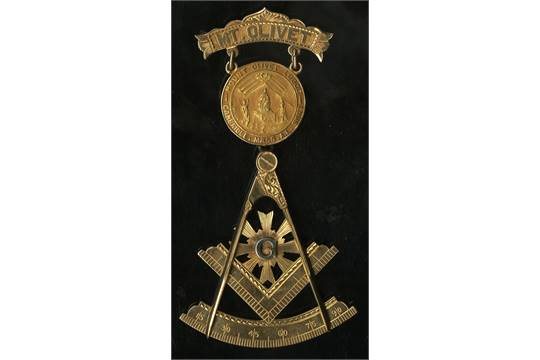 Cambridge, MA  Mt  Olivet Lodge, A F  & A M  Worshipful Master Jewel