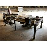 """10' x 4' Metal Table w/ 5"""" Vise; Comes w/ Assorted C-Clamps [Located at 8830 Vineyard Avenue, Rancho"""