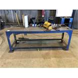 """34"""" x 7'-10"""" Metal Table (No Contents) [Located at 8830 Vineyard Avenue, Rancho Cucamonga, CA"""
