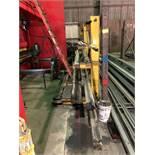 Rack (Yellow) w/ Assorted Press Brake Die Tooling [Located at 8830 Vineyard Avenue, Rancho