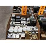 Large Qty assorted contactors, starters, electrical as pictured.