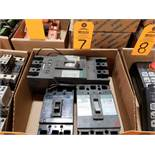 Qty 3 - Assorted molded case breakers as pictured.