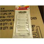 36 x First Steps 6 safety latches for cupboards & drawers. New & packaged
