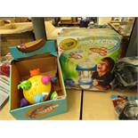 2 Items Being a Chuckle Ball & a Crayola Projector Light Designer. Both packaged