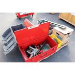 LOT - PALLET OF TOOLS: ELECTRIC CHAIN SAW, HYDRAULIC BENDERS, ETC.