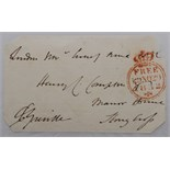 Lot 194 - Charles Cavendish Fulke Greville. Original signed free-front envelope to a Mr Henry Compton, date