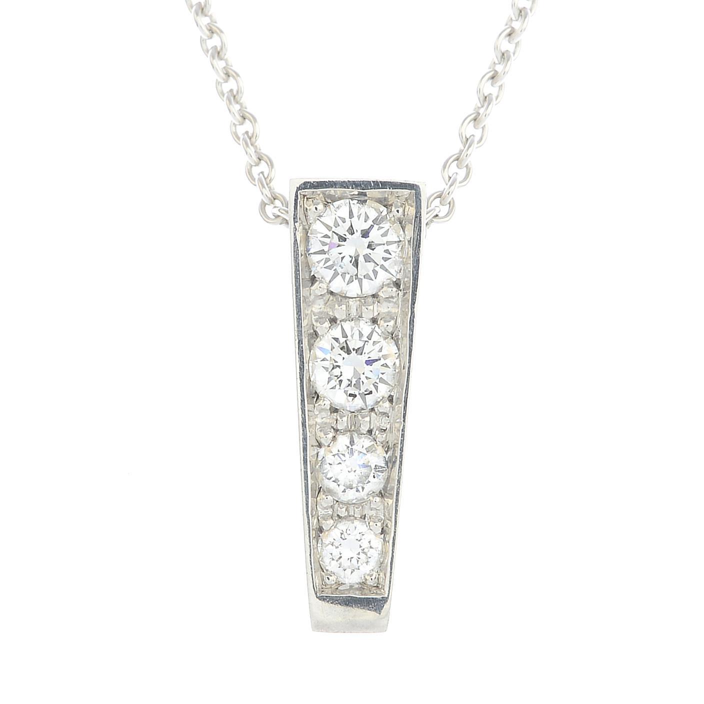 Lot 51 - An 18ct gold diamond and gem-set interchangeable pendant,