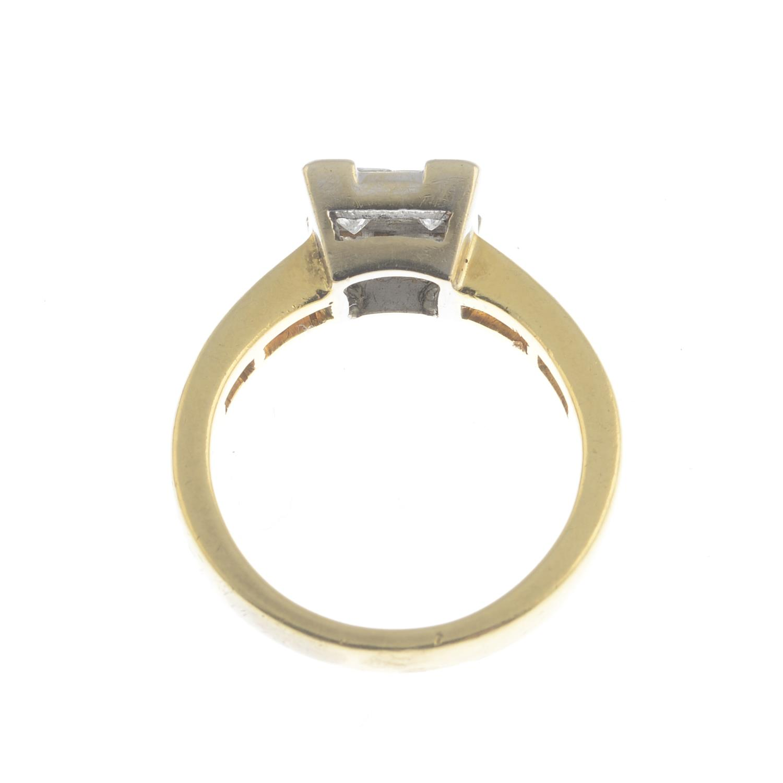Lot 45 - A diamond dress ring.Estimated total diamond weight 0.90ct,