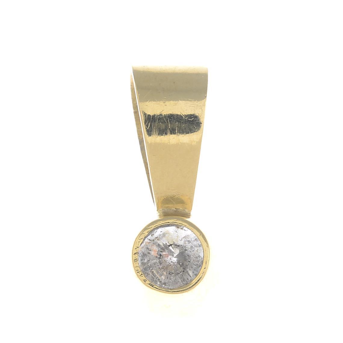 Lot 50 - A diamond single-stone pendant.Estimated diamond weight 0.70ct,