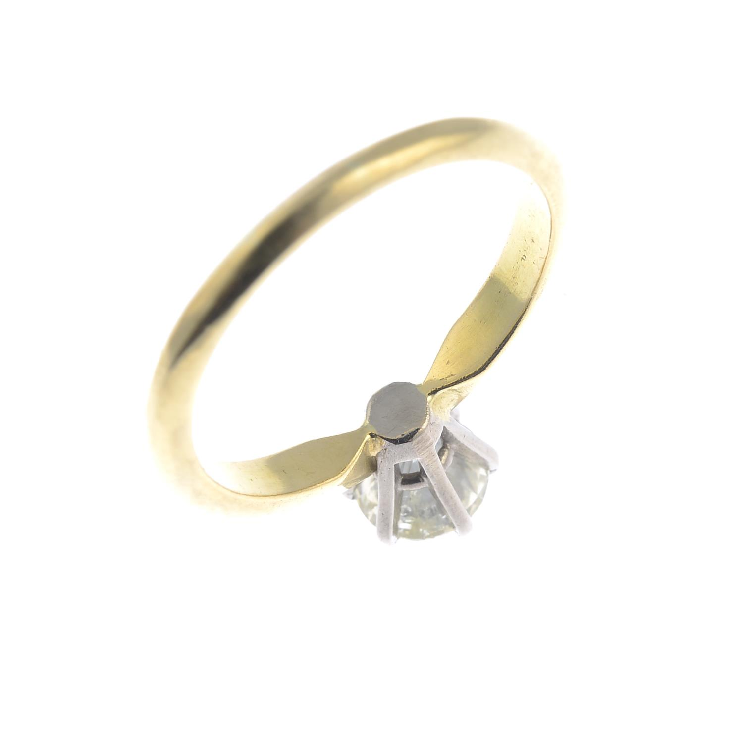 Lot 16 - An 18ct gold brilliant-cut diamond single-stone ring.Estimated diamond weight 1ct,