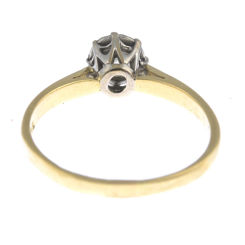 Lot 58 - An 18ct gold brilliant-cut diamond single-stone ring.Diamond weight 0.33ct,