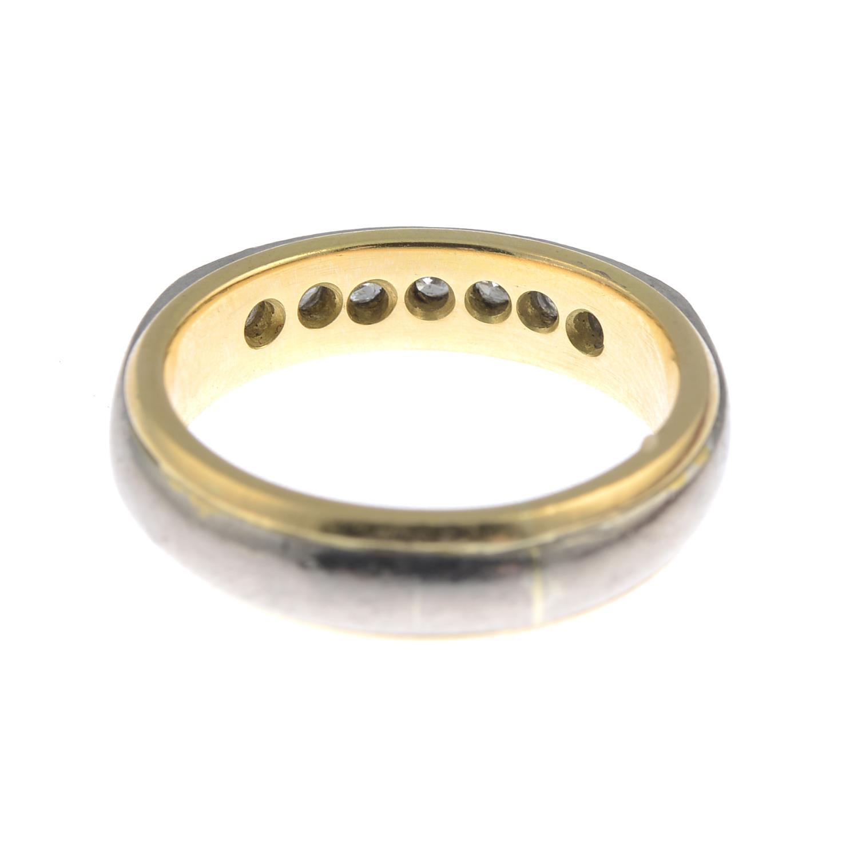 Lot 27 - A diamond half eternity ring.Estimated total diamond weight 0.50ct.