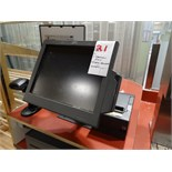 1X, 1 STATION POS SYSTEM W/ CASH BOX, PRINTER & MONITOR