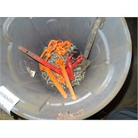 1 LOT, BIN OF CHAINS & TENSIONERS