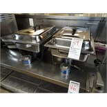LOT, 2X S/S CHAFING DISHES W/ LIDS