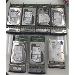 7 HARD DRIVES, ALL FROM NETWORKING SET UP BCBG