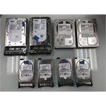 8 HARD DRIVES LOT, FROM NETWORKING SET UP