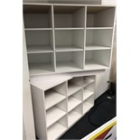 TWO BOOK UNIT DISPLAY UNITS , WHITE