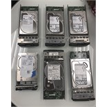 6 HARD DRIVES FROM NETWORKING SET UP