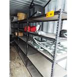 """LOT/ (4) LIGHT DUTY METAL SHELF UNITS 48.5""""X24.5""""X72""""H (NO CONTENTS) (STORED IN SEA CONTAINER)"""