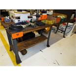 """96""""X30"""" WOOD TOP WORK BENCH (DELAYED DELIVERY)"""